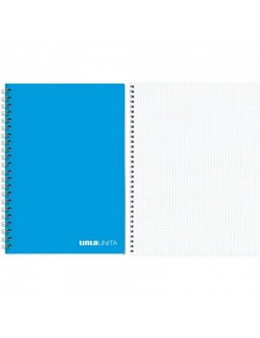 Quaderno Spiralato Tinta Unita Senza Fori Quadretti 5MM A4 Confezione 5 pz.