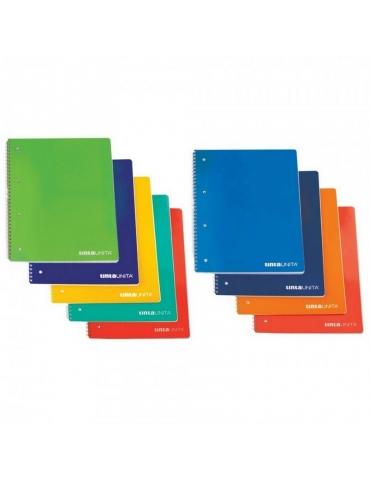 Quaderno Spiralato Tinta Unita con Fori Quadretti 4MM A5 Confezione 5 pz.