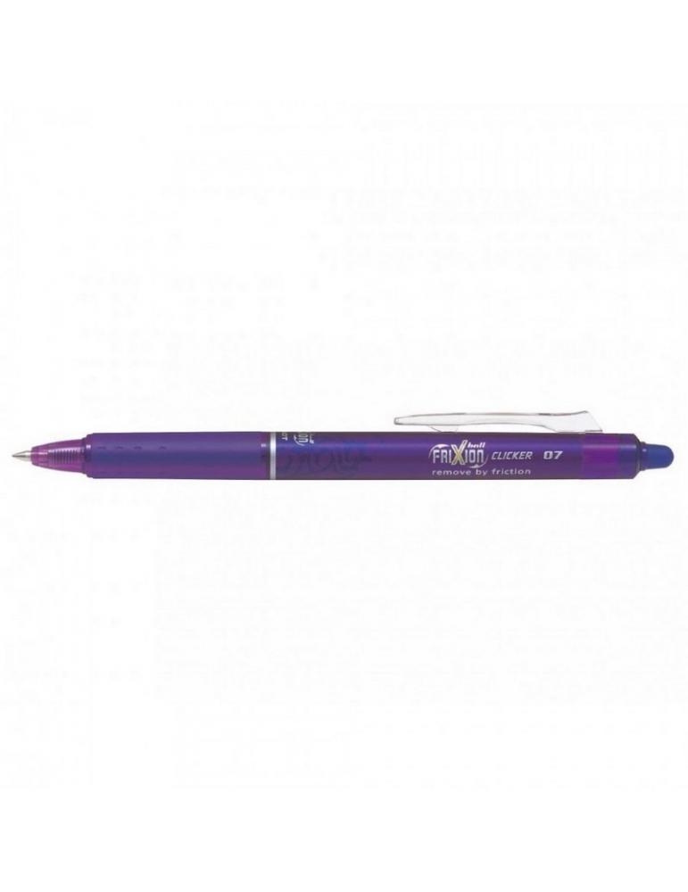 Penna Sfera Pilot Frixion Clicker 0.7 Viola