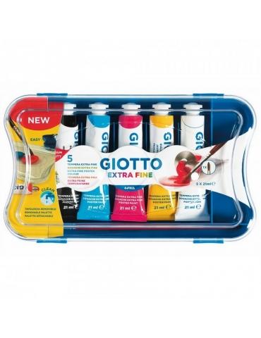 Colore a Tempera Giotto Extra Fine 5 tubetti da 21 ml.