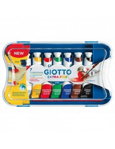 Colore a Tempera Giotto Extra Fine 7 tubetti da 12 ml.
