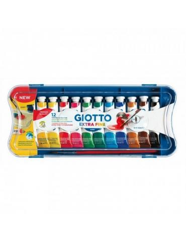 Colore a Tempera Giotto Extra Fine 12 tubetti da 12 ml.