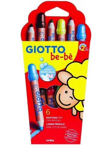 Matitoni Colorati Giotto Bebè FILA Confezione 6 Pezzi
