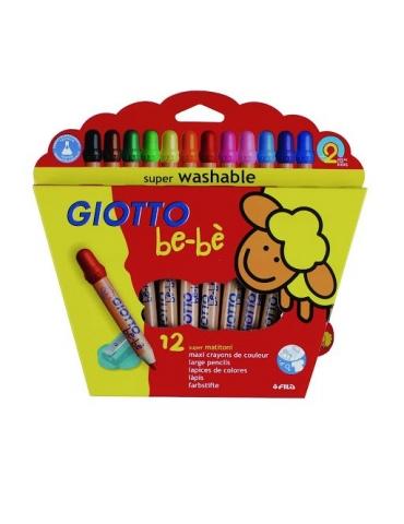 Matitoni Colorati Giotto Bebè FILA Confezione 12 Pezzi + Appuntamatitone Colorato