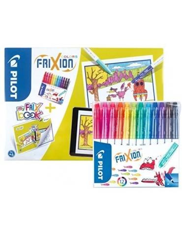 Set Pennarelli Pilot Frixion Color + My Frix Book da Colorare