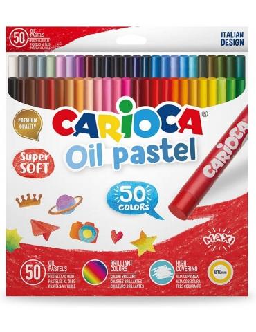 Pastelli a Olio Carioca Confezione 50 Colori