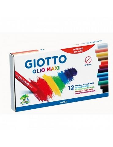 Pastelli a Olio Maxi Giotto FILA Confezione 12 Colori