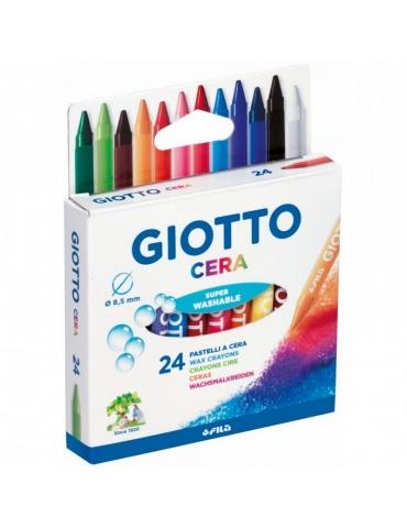 Pastelli a Cera Giotto FILA Confezione 24 Colori