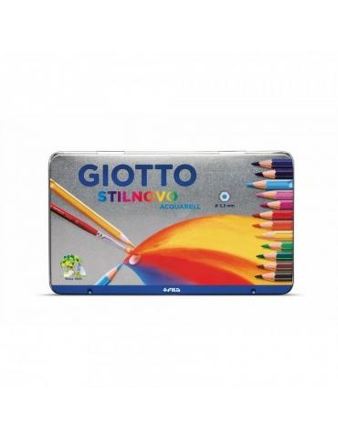 Matite Colorate Giotto FILA Stilnovo Acquarell Confezione in Metallo 12 Colori