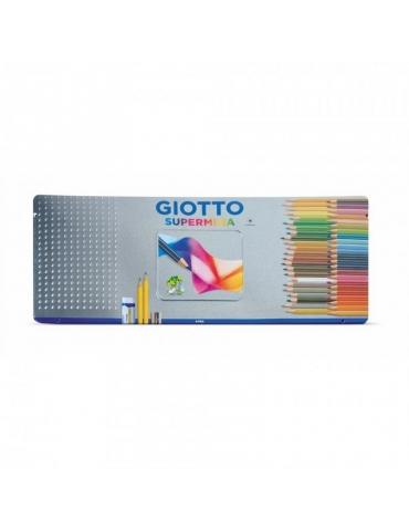 Matite Colorate Giotto FILA Supermina Confezione in Metallo 50 Colori