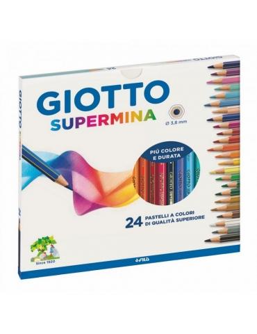 Matite Colorate Giotto FILA Supermina Confezione 24 Colori