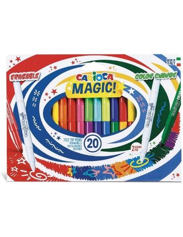 Pennarelli Colorati Carioca Magic Confezione 20 Colori