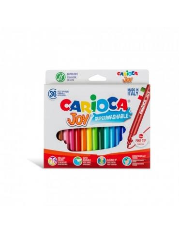 Pennarelli Colorati Carioca Joy Lavabili Confezione 36 Colori