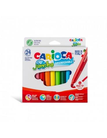 Pennarelli Colorati Carioca Jumbo Lavabili Confezione 24 Colori