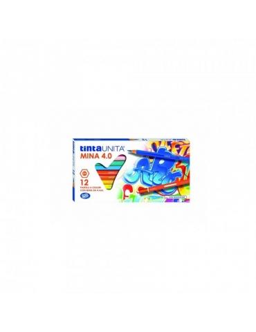 Matite Colorate Tinta Unita Mina 4.0 Confezione 12 Colori