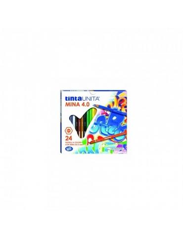 Matite Colorate Tinta Unita Mina 4.0 Confezione 24 Colori