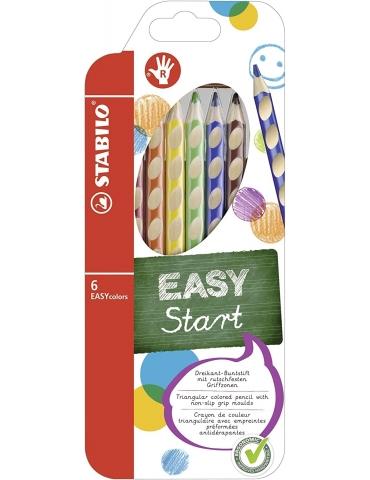 Matite Colorate Stabilo Easy Start per Destrimani Confezione 6 Colori