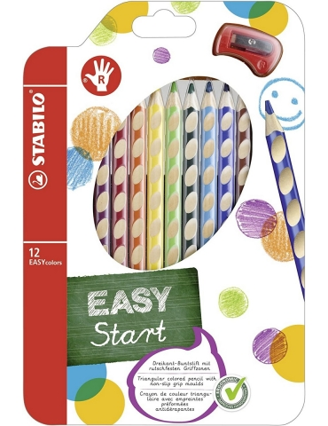 Matite Colorate Stabilo Easy Start per Destrimani Confezione 12 Colori