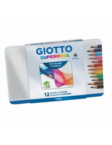 Colori F.I.L.A. Giotto Supermina 12 pz. scatola metallo 236700 - Mega 1941