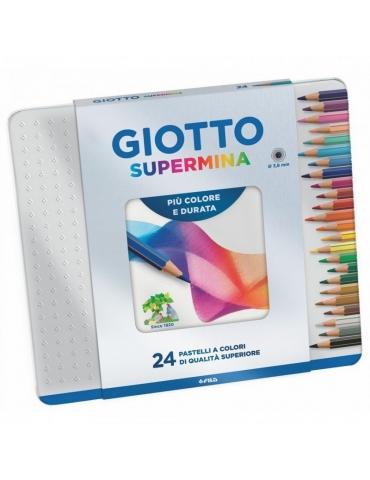 Colori F.I.L.A. Giotto Supermina 24 pz. scatola metallo 236800 - Mega 1941