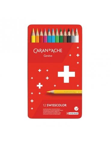 Matite Colorate Caran D'Ache Swisscolor Confezione 12 Colori