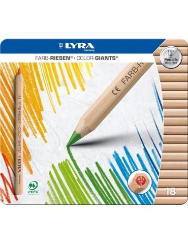 Matitoni Colorati Lyra FILA Color Giants Confezione 18 Colori