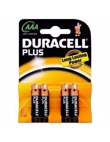Pila Duracell AAA Mini Stilo MN2400 Confezione 4 Pezzi