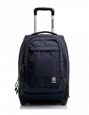 Zaino Trolley Invicta Bump PRO Plain Blu Denim