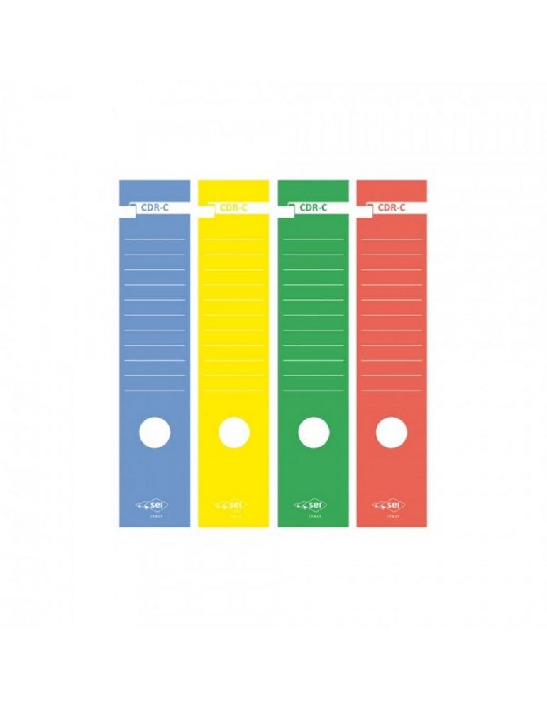 Copridorso Adesivo in Carta per Dossier 10 Pz.