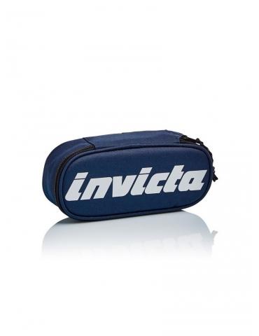 Astuccio Invicta Lip Pencil Bag Logo Blu