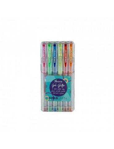 Astuccio 6 Penne Gel Pen Tinta Unita Glitter