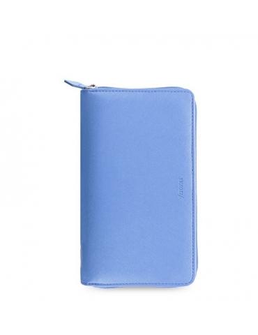 Organizer Filofax 2021 Saffiano Zip Personal Compact Blu