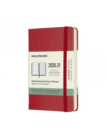 Agenda Moleskine 2019-20 Settimanale 18 Mesi Pocket 9x14 - Copertina Rigida - Rosso
