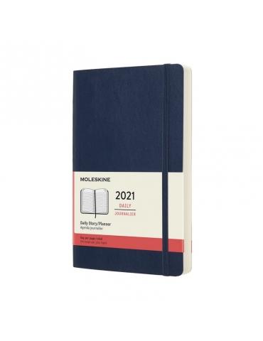 Agenda Moleskine 2021 Giornaliera 12 Mesi Large 13x21 - Copertina Morbida - Blu Zaffiro