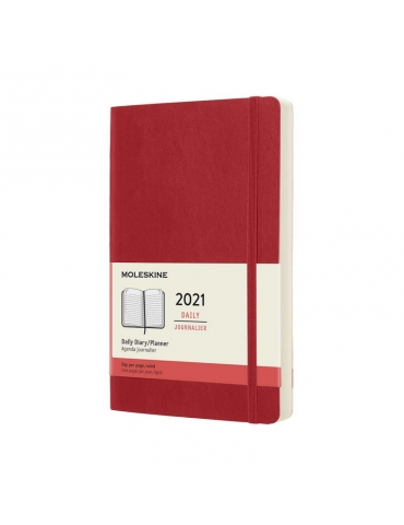 Agenda Moleskine 2020 Giornaliera 12 Mesi Large 13x21 - Copertina Morbida - Rosso