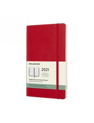 Agenda Moleskine 2020 Settimanale 12 Mesi Orizzontale Large 13x21 - Copertina Morbida - Rosso