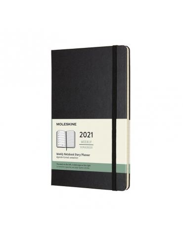 Agenda Moleskine 2020 Settimanale 12 Mesi Notebook Large 13x21 - Copertina Rigida - Nero