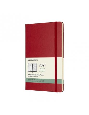 Agenda Moleskine 2020 Settimanale 12 Mesi Notebook Large 13x21 - Copertina Rigida - Rosso