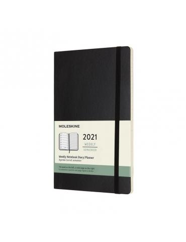 Agenda Moleskine 2020 Settimanale 12 Mesi Notebook Large 13x21 - Copertina Morbida - Nero
