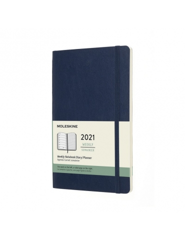 Agenda Moleskine 2020 Settimanale 12 Mesi Notebook Large 13x21 - Copertina Morbida - Blu Zaffiro