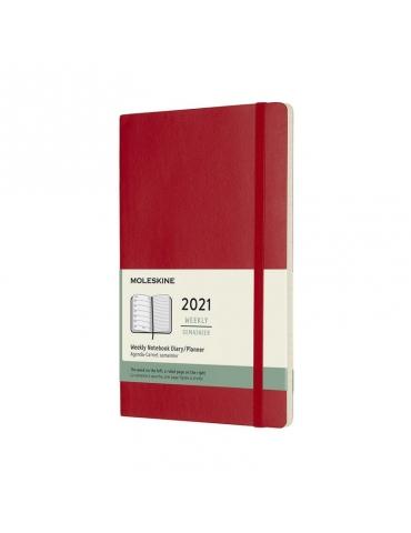Agenda Moleskine 2020 Settimanale 12 Mesi Notebook Large 13x21 - Copertina Morbida - Rosso