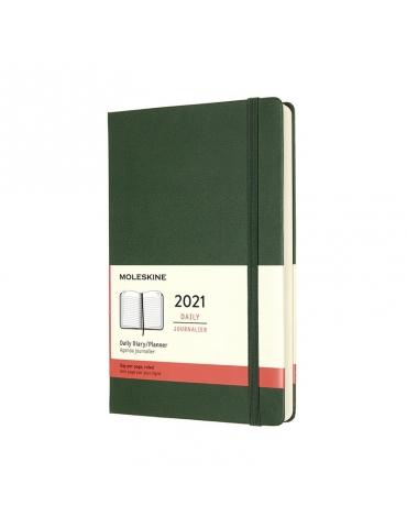 Agenda Moleskine 2021 Giornaliera 12 Mesi Large 13x21 - Copertina Rigida - Verde