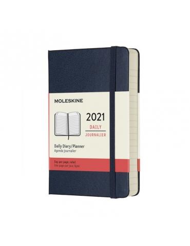 Agenda Moleskine 2020 Giornaliera 12 Mesi Pocket 9x14 - Copertina Rigida - Blu Zaffiro