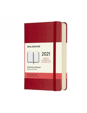 Agenda Moleskine 2020 Giornaliera 12 Mesi Pocket 9x14 - Copertina Rigida - Rosso