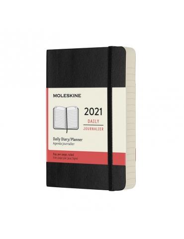 Agenda Moleskine 2020 Giornaliera 12 Mesi Pocket 9x14 - Copertina Morbida - Nero