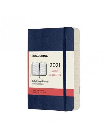Agenda Moleskine 2020 Giornaliera 12 Mesi Pocket 9x14 - Copertina Morbida - Blu Zaffiro