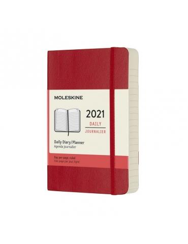 Agenda Moleskine 2020 Giornaliera 12 Mesi Pocket 9x14 - Copertina Morbida - Rosso