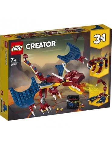 LEGO Creator Drago del Fuoco 3 in 1