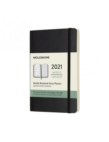 Agenda Moleskine 2020 Settimanale 12 Mesi Notebook Pocket 9x14 - Copertina Morbida - Nero