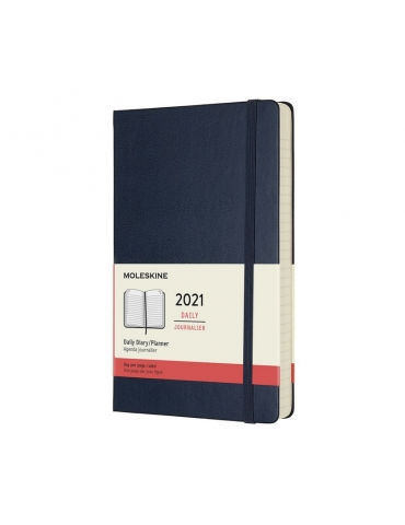 Agenda Moleskine 2020 Giornaliera 12 Mesi Large 13x21 - Copertina Rigida - Blu Zaffiro